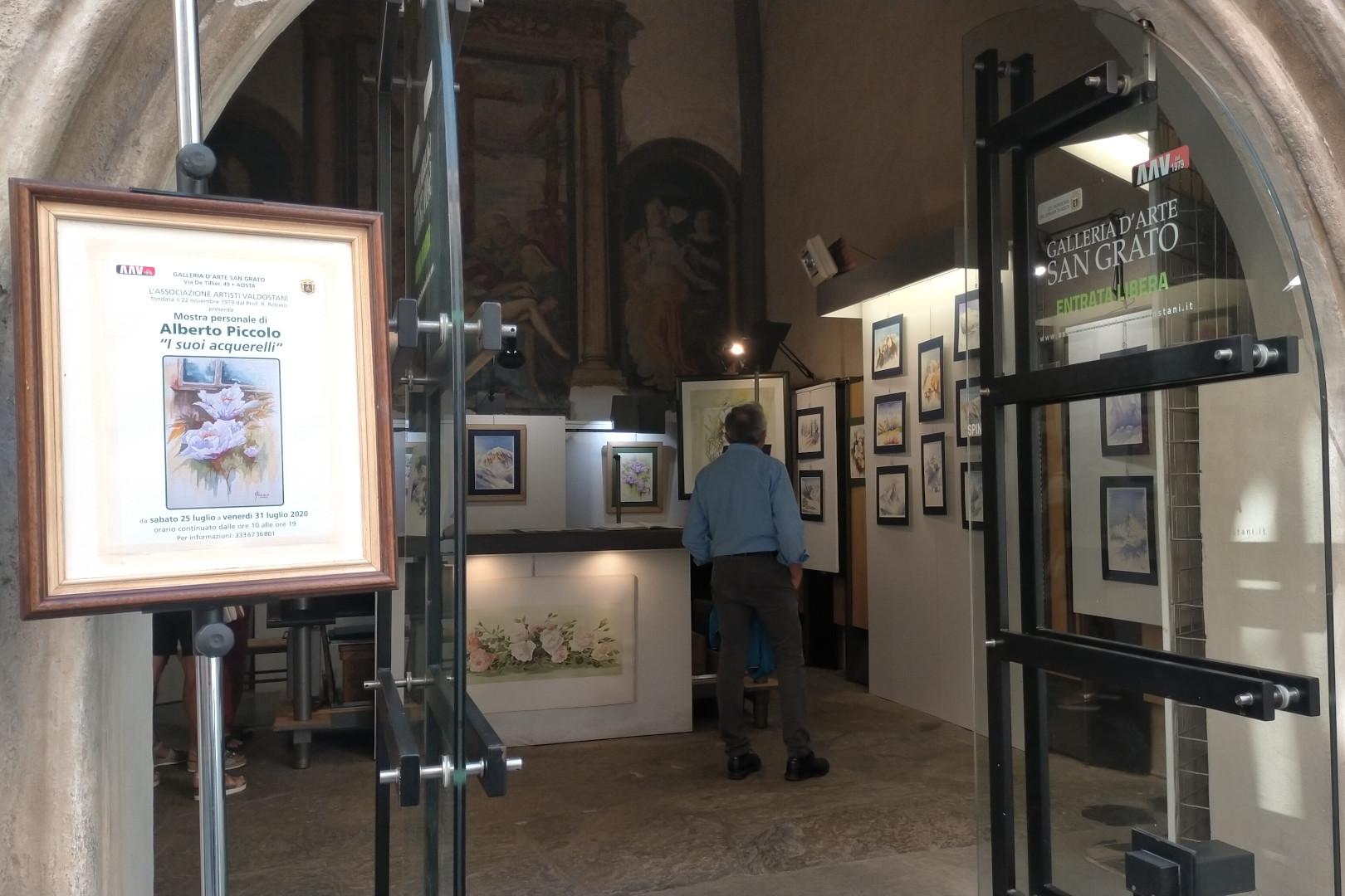 La mostra di Alberto Piccolo alla Cappella di San Grato ad Aosta