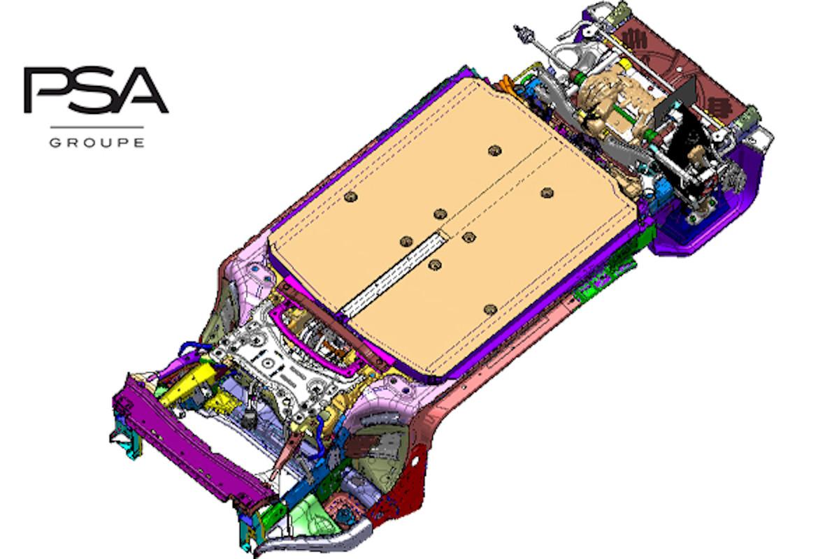 Una rappresentazione grafica della piattaforma 'eVMP' di PSA