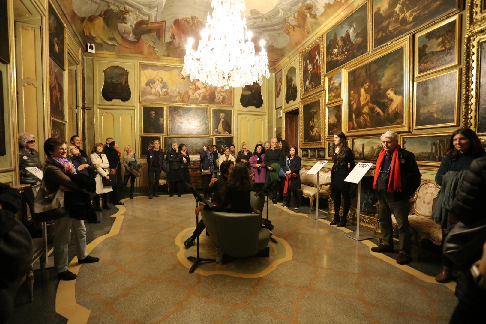 L'iniziativa 'Costume Moda e Immagine' a Palazzo Morando (foto Mario Benzioni)